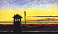 Edward Hopper, Railroad Sunset, 1929, oil on canvas, 19 x 32 in. / 48 x 81.3 cm, US$260