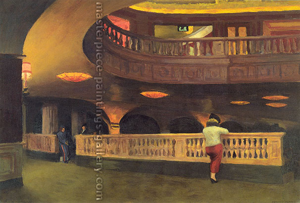 Edward Hopper, The Sheridan Theatre, 1937, oil on canvas, 17.1 x 25.3 in. / 43.5 x 64.1 cm, US$275