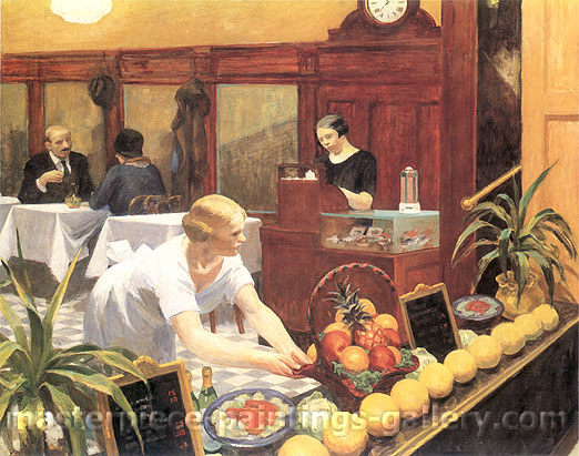 Edward Hopper, Tables for Ladies, 1930, oil on canvas, 25.6 x 32 in. / 65 x 81.3 cm, US$280
