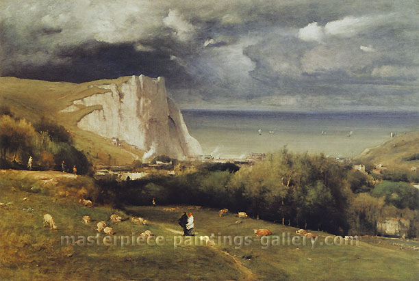 George Inness, Etretat, 1875, oil on canvas, 30 x 45 in. / 76.2 x 114.3 cm, US$490
