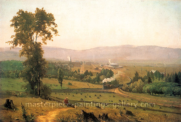 George Inness, The Lackawanna Valley, 1856, oil on canvas, 16.3 x 24 in. / 41.3 x 63.5 cm, US$350