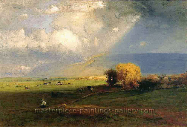 George Inness, Passing Clouds, 1876, oil on canvas, 32 x 48 in. / 81.3 x 121.9 cm, US$490