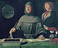Jacapo de' Barberi, Ritratto di Fra Luca Pacioli | Luca Bartolomes Pacioli | Fra Luca Pacioli Explaining a Theorem to a Young Man | The Portrait of Fra Luca Pacioli, 1495, oil on canvas, 34 x 28.5 in. / 86.4 x 72.3 cm, US$400