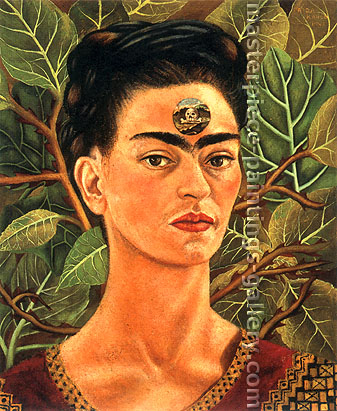 Frida Kahlo, Thinking about Death, 1943, oil on canvas,  25.8 x 31.7 in. / 65.5 x 80.5 cm, US$320
