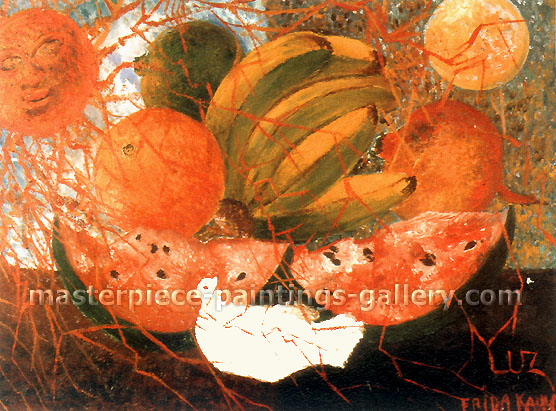 Frida Kahlo, Fruit of Life, 1953, oil on canvas,  24 x 17.8 in. / 61 x 45 cm, US$330