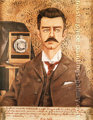 Frida Kahlo, Portrait of My Father, Wilhelm Kahlo, 1951, oil on canvas, 31.5 x 24.4 in. / 80 x 62 cm, US$280