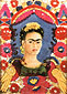 Frida Kahlo, Self-Portrait the Frame, 1938, oil on canvas, 35.5 x 27.5 in. / 90 x 70 cm, US$275