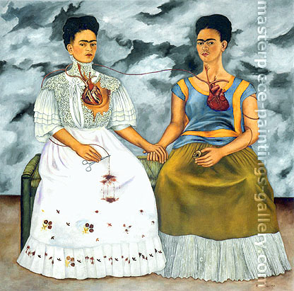 Frida Kahlo, The Two Frida, 1939, oil on canvas, 67 x 67 in. / 170 x170 cm, US$760