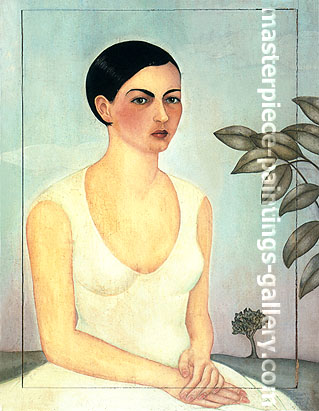 Frida Kahlo, Portrait of My Sister Cristina, 1928, oil on canvas, 24 x 19.7 in / 61 x 50.2 cm, US$280