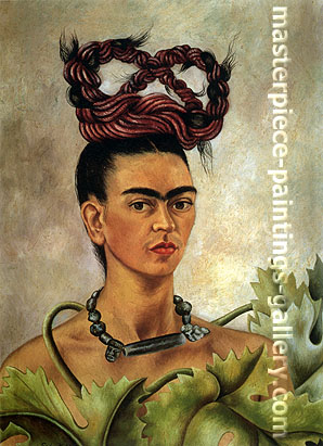Frida Kahlo, Self-portrait with Braid, 1941, oil on canvas, 20 x 15.2 in / 51 x 38.5 cm, US$165