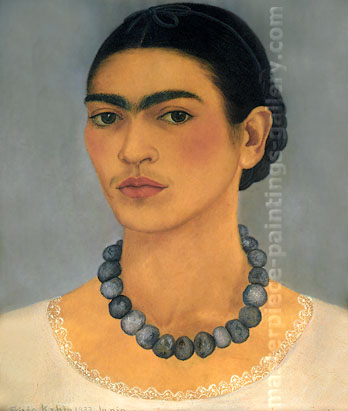 Frida Kahlo, Self-portrait with Necklace, 1933, oil on canvas, 24 x 20.5 in / 61 x 51.1 cm, US$250