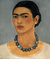 Frida Kahlo, Self-portrait with Necklace, 1933, oil on canvas, 24 x 20.5 in / 61 x 51.1 cm, US$275