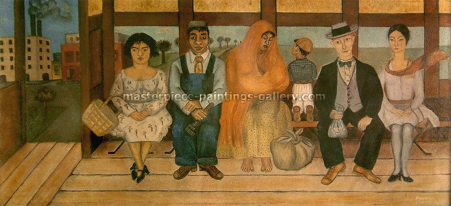 Frida Kahlo, The Bus, 1929, oil on canvas, 11.2 x 24 in. / 28.4 x 61cm, US$350