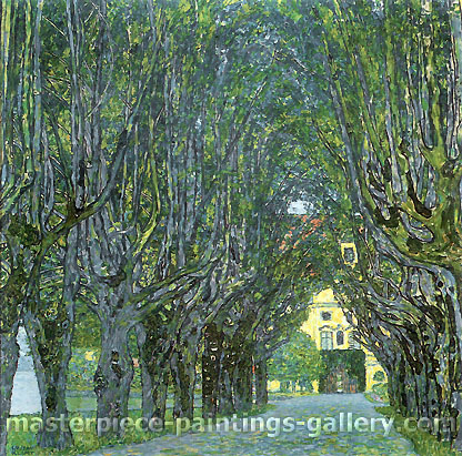 Gustav Klimt, Avebue in Schloss Kammer Park | Allee im Park von Schloss Kammer, 1912, oil on canvas, 43.3 x 43.3 in. / 110 x 110 cm, US$610