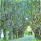 Gustav Klimt, Avenue in Schloss Kammer Park | Allee im Park von SchloB Kammer, 1912, oil on canvas, 43.3 x 43.3 in. / 110 x 110 cm, US$610