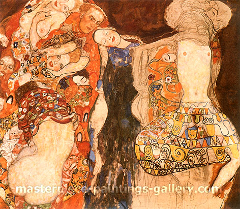 Gustav Klimt, The Bride, 1917-18, oil on canvas, 35.9 x 31.5 in. / 91.1 x 80 cm, US$330