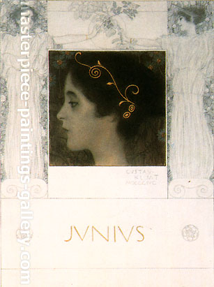 Gustav Klimt, Finished Drawing for the Allegory Junius, 1896, oil on canvas, 16.5 x 12.2 in. / 42 x 31 cm, US$330