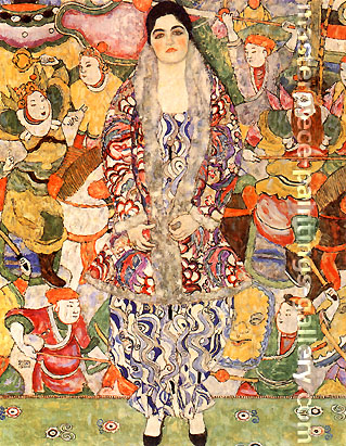 Gustav Klimt, Portrait of Friederike Maria Beer, 1916, oil on canvas, 25.6 x 33.3 in. / 65 x 84.5 cm, US$360