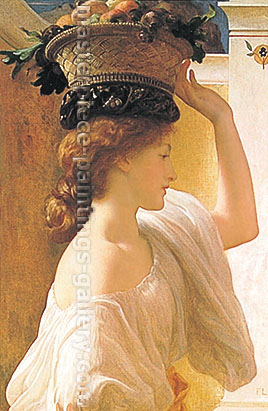 Lord Frederic Leighton, Eucharis- A Girl with a Basket of Fruit, 1863, oil on canvas, 33 x 22.8 in. / 83.8 x 57.8 cm, US$420
