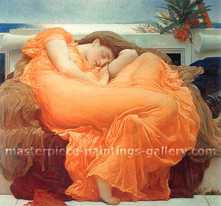 Lord Frederic Leighton, Flaming June, 1895, oil on canvas, 47.6 x 47.6 in. / 121 x 121 cm, US$660