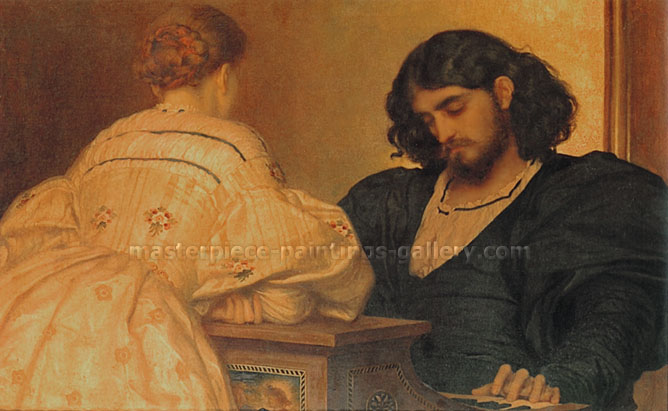 Lord Frederic Leighton, Golden Hours, 1864, oil on canvas, 36 x 48 in. / 91.5 x 122 cm, US$610