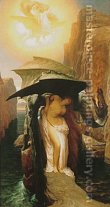 Lord Frederic Leighton, Perseus and Andromeda, 1891, oil on canvas, 55.5 x 30.5 in. / 141 x 77.6 cm, US$700