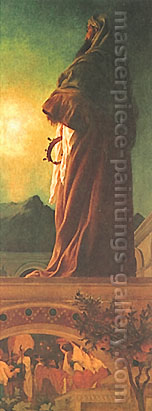 Lord Frederic Leighton, The Star of Bethlehem, 1862, oil on canvas, 60 x 23.5 in. / 152.4 x 59.7 cm, US$670