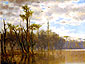 Joseph Rusling Meeker, Bayou , 1879, oil on canvas, 18.7 x 24 in. / 47.6 x 61 cm, US$280