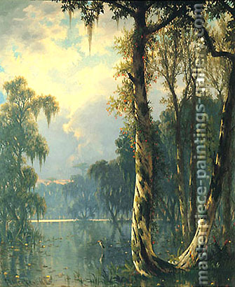 Joseph Rusling Meeker, Near Bayou Lafourche, 1880, oil on canvas, 24 x 20 in. / 61 x 50.8 cm, US$280
