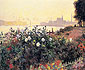 Claude Monet, Argenteuil, the Bank in Flower, 1877 (W 453), oil on canvas, 21.3 x 25.6 in. / 54 x 65 cm, US$320