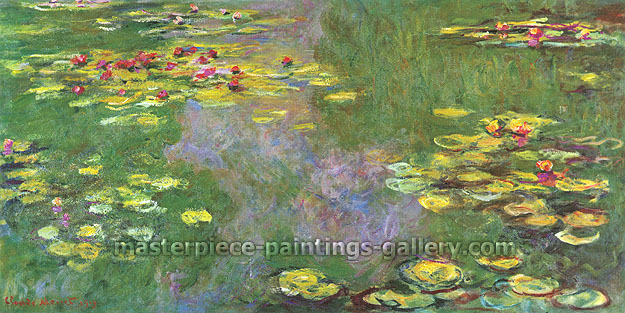 Claude Monet, Water Lilies, Giverny | Water Lily Pond, Giverny | Le Bassin aux Nympheas, Giverny, 1919, oil on canvas, 31.5 x 63 in. / 80 x 160 cm, US$640.