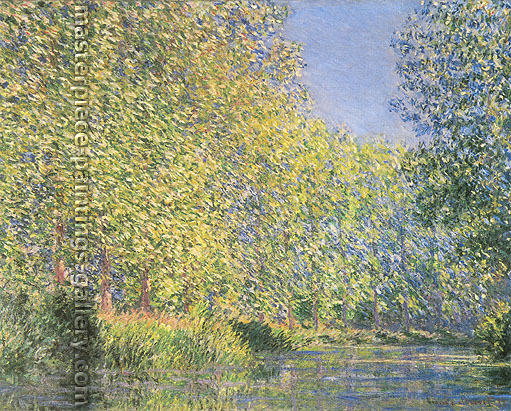 Claude Monet, A Bend in the River Epte, near Giverny | A Bend in the Epte | Un Tournant de l'Epte (W 1168), 1888, oil on canvas, 28.7 x 36.2 in. / 73 x 92 cm, US$550
