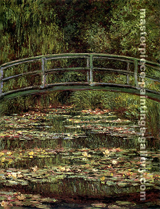 Bridge over a Pool of Water Lilies, 1899, oil on canvas, 36 x 28.6 in / 91.4 x 72.7 cm, US$290