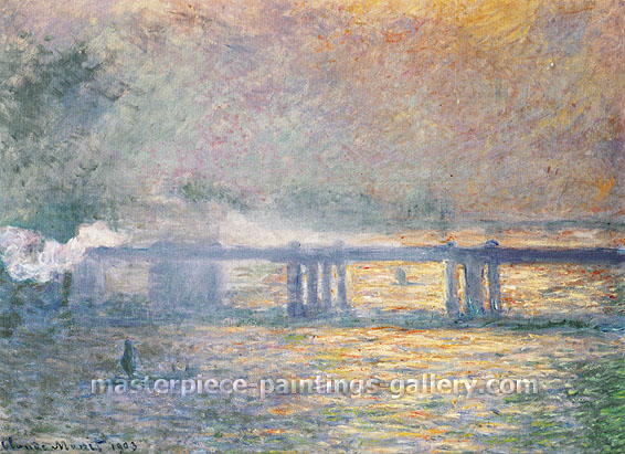 Claude Monet, Charing Cross Bridge, 1903, oil on canvas, 28.7 x 39.4 in. / 73 x 100 cm, US$550