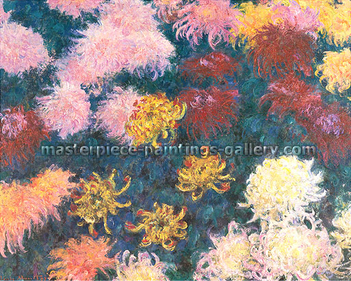 Claude Monet, Chrysanthemums, 1897 (W 1496), oil on canvas, 31.9 x 39.4 in. / 81 x 100 cm, US$550