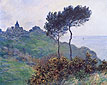 Claude Monet, Church at Varengeville | Cloudy Weather | Church on the Cliff, 1882, oil on canvas, 25.6 x 31.9 in. / 65 x 81 cm, US$320