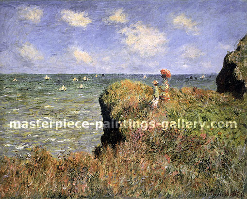Claude Monet, Cliff Walk at Pourville, 1882 , oil on canvas, 26.2 x 32.4 in. / 66.5 x 82.3 cm, US$450