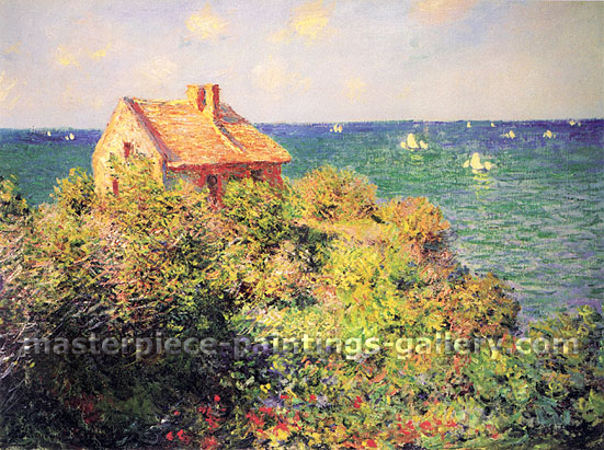 Claude Monet, The Coastguard's Cottage at Pourville, 1882, (W805), oil on canvas, 23.8 x 32 in. / 60.5 x 81.5 cm, US$450