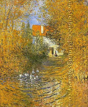 Claude Monet, The Duck Pond, 1874, oil on canvas, 28.3 x 23.2 in. / 72 x 58.8 cm, US$400