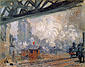 Claude Monet, La Gare Saint-Lazare, Vue Exterieure | The Gare Saint-Lazare, Outside View, 1877, oil on canvas, 25.2 x 31.9 in. / 64 x 81 cm, US$280