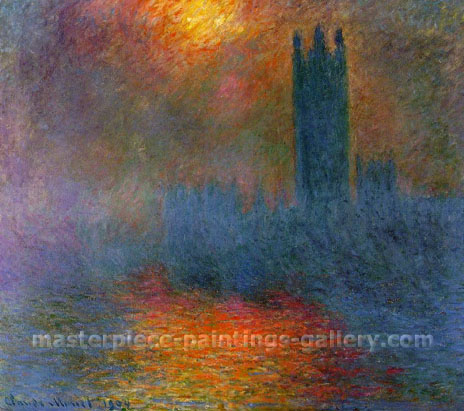 Claude Monet, London Parliament in Fog, 1899 (W 1610), oil on canvas, 31.9 x 36.2 in. / 81 x 92 cm, US$550