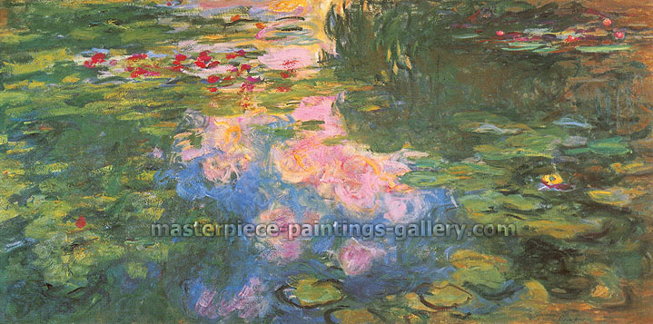 Claude Monet, Nympheas | Water Lilies, 1919, oil on canvas, 31.5 x 63 in. / 80 x 160 cm, US$640