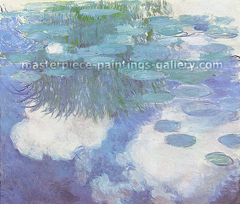Claude Monet, Nympheas, 1914 (W 1783), oil on canvas, 51.2 x 62.6 in. / 130 x 159, US$880