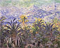 Claude Monet, Palm Trees at Bordighera, 1884 (W 877), oil on canvas, 25.5 x 32 in. / 64.8 x 81.3 cm, US$290Claude Monet, Palm Trees at Bordighera, 1884, oil on canvas, 25.5 x 32 in. / 64.8 x 81.3 cm, US$350
