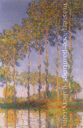 Claude Monet, Poplars along the River Epte, Sunset Effect, 1891, oil on canvas, 39.4 x 25.6 in. / 100 x 65 cm, US$550