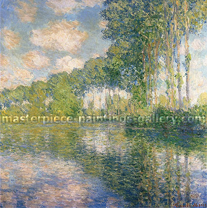 Claude Monet, Poplars on the Epte, 1891, oil on canvas, 32.2 x 32 in. / 81.9 x 81.3 cm, US$450