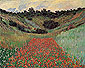 Claude Monet, Poppy Field in Hollow near Giverny, 1885 (W 1000), oil on canvas , 25.7 x 32 in / 65.3 x 81.3 cm, US$330