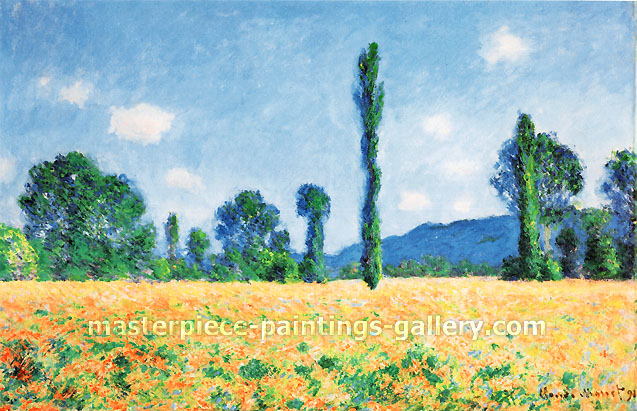 Claude Monet, Poppy Field, 1890-91, oil on canvas, 24.1 x 36.7 in. / 61.2 x 93.1 cm, US$520