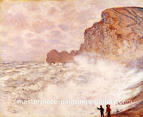 Claude Monet, Rough Weather at Etretat, 1883, oil on canvas, 26.3 x 32 in. / 66.8 x 81.9 cm, US$450