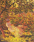 Claude Monet, Woman Seated in a Garden (W 680), 1881, oil on canvas, 31.9 x 25.6 in. / 81 x 65 cm, US$289